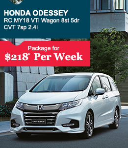 Honda Odessey RC MY18 VTi Wagon 8st 5dr CVT 7sp 2.4i                                              Package for  $218